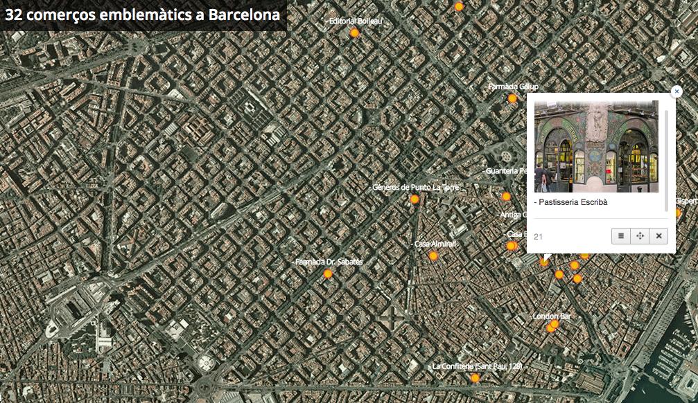 mapa comerços barelona