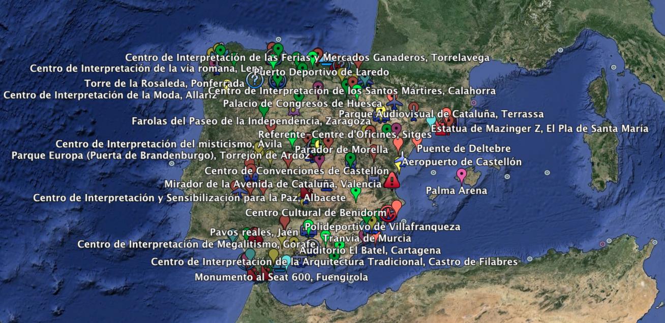 Brr.. mapa del despilfarro en España