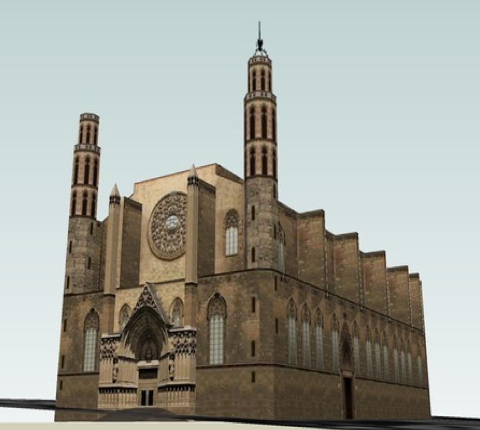 La Barcelona monumental en 3D