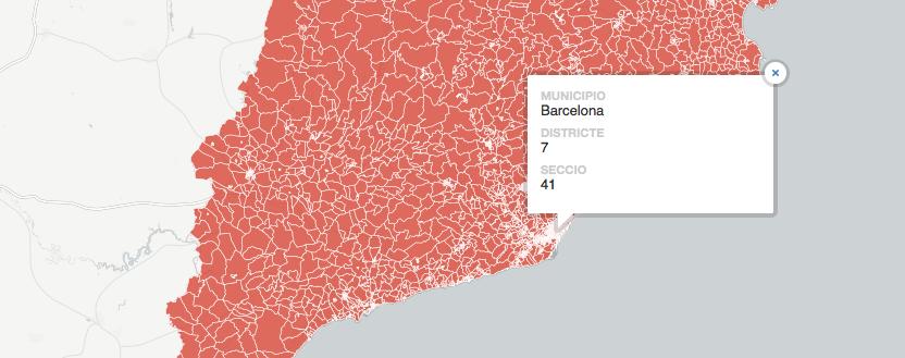 Totes les seccions censals de Catalunya
